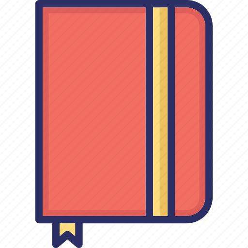 Book, bookmark, education, learning, marker, sticker, study icon - Download on Iconfinder