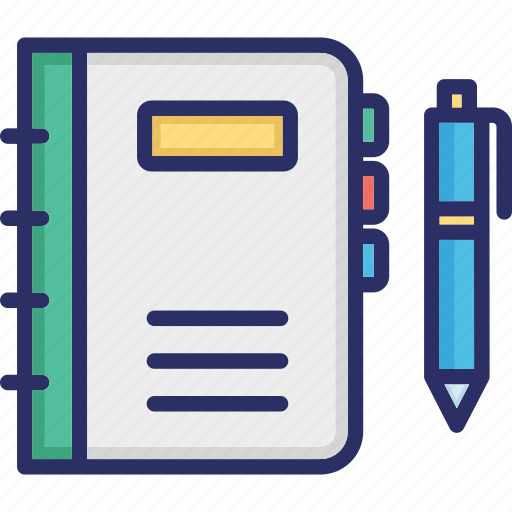 Copywriting, education concept, stationary, workbook, writing book icon - Download on Iconfinder