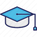 education concept, graduate person, graduation cap, mortar cap, student cap icon