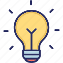 bulb, creative, idea, innovation, light bulb icon