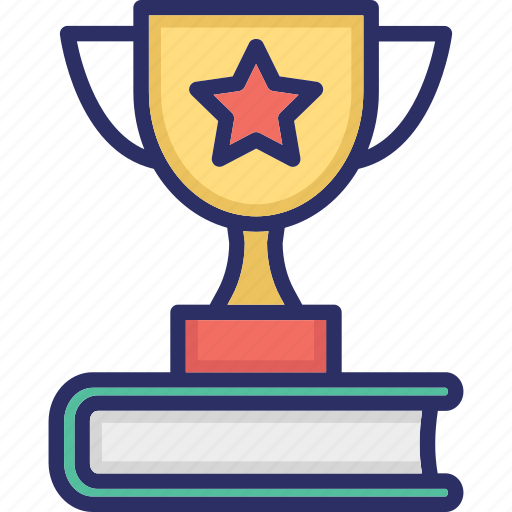 Book award, chalice, champion, gold cup, trophy, winner trophy icon - Download on Iconfinder