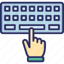 computer engineering, computer sciences, computing, information technology, input device, keyboard, typist icon