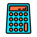 business, calculator, material, office, stationery icon