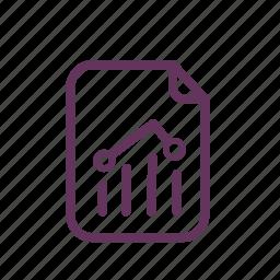 document, file, graph, statistics, stats icon