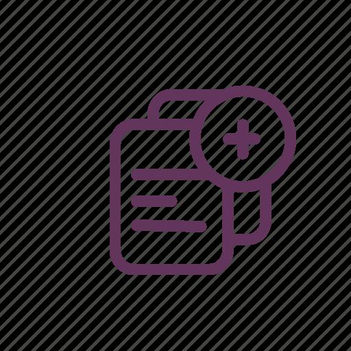 add, attach, document, file, new icon