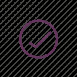circle, correct, done, new, ok, tick icon