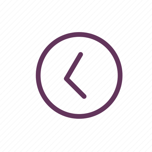 back, circle, left, proceed icon