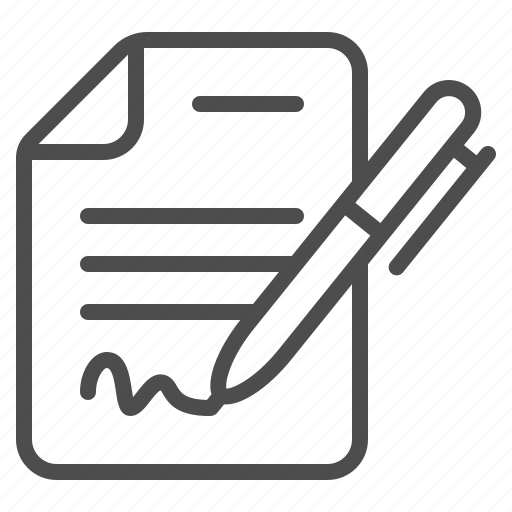 Contract, document, form, lease, pen, signing, writing icon - Download on Iconfinder