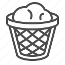garbage bin, recycle bin, trash can icon