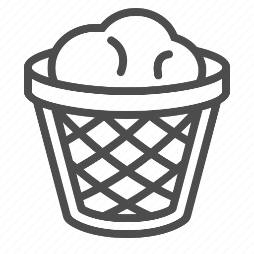 garbage bin, recycle bin, trash can icon