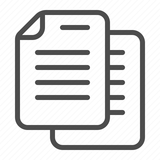 document, file, page, sheet of paper icon