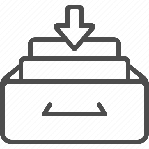archive, arrow, document, drawer, file, inbox icon