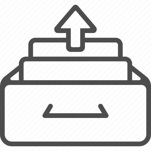 archive, document, drawer, file, inbox, outbox icon