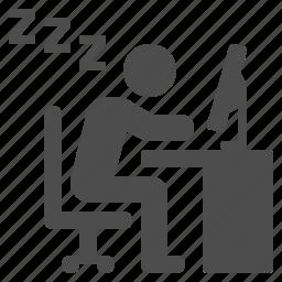 desk, job, man, office, sleeping icon