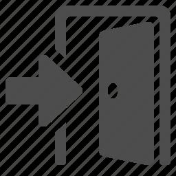door, enter, open, real estate icon