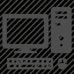 computer, desktop, electronics, keyboard, mouse, pc, screen icon