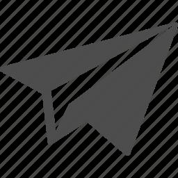 creativity, paper, paper plane, plane icon