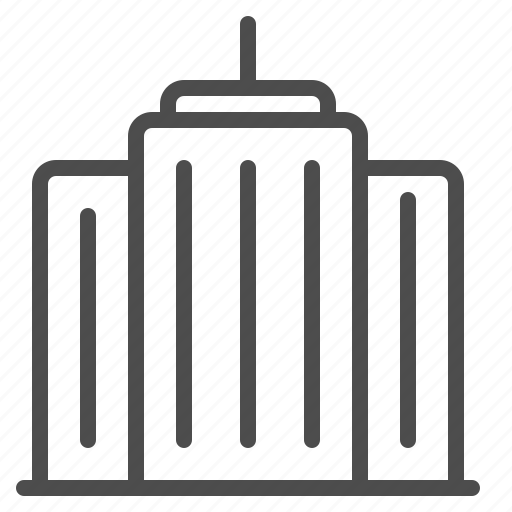 apartment building, cityscape, high-rise, office building, skyscraper, tower building icon