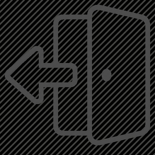 arrow, door, entrance, exit, open icon