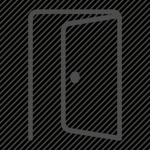 door, doorway, entrance, exit, open icon