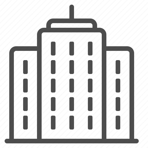 apartment building, high-rise, office building, skyscraper, tower building icon