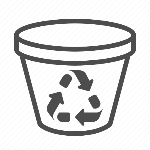 garbage, recycle bin, recycling, trash can icon