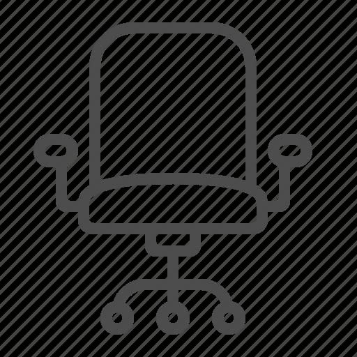 chair, office chair, rotating, swivel, wheels icon