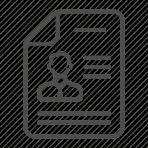 cv, document, file, profile, resume icon