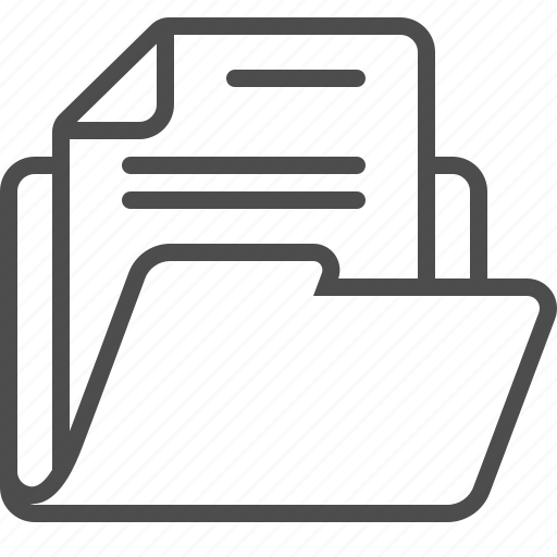 archive, document, file, folder, page icon