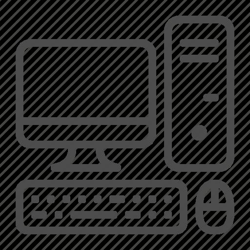 computer, desktop, keyboard, mouse, pc, screen icon