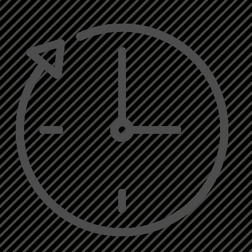 around the clock, arrow, clock, time icon