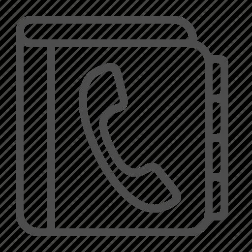 contact list, handset, phone book, phonebook, telephone icon