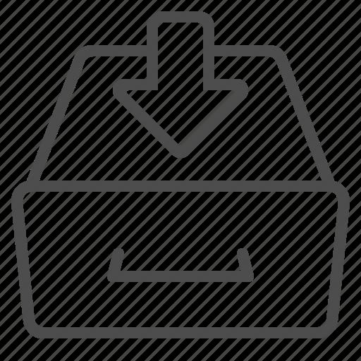 archive, arrow, drawer, inbox icon