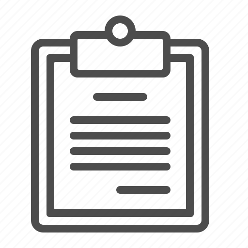clipboard, document, file, list, page icon
