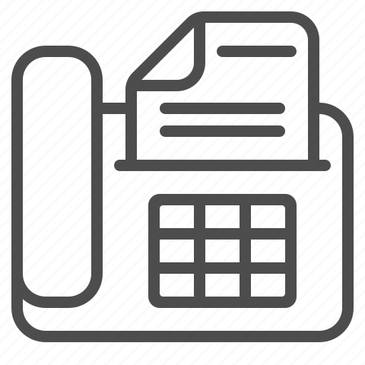 document, fax, file, landline, page, telephone icon