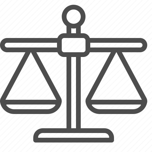 justice, scales, weighing, weight scales icon