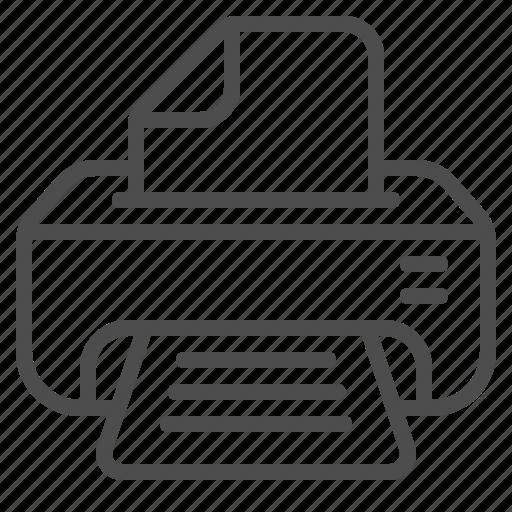 document, page, printer, printing icon