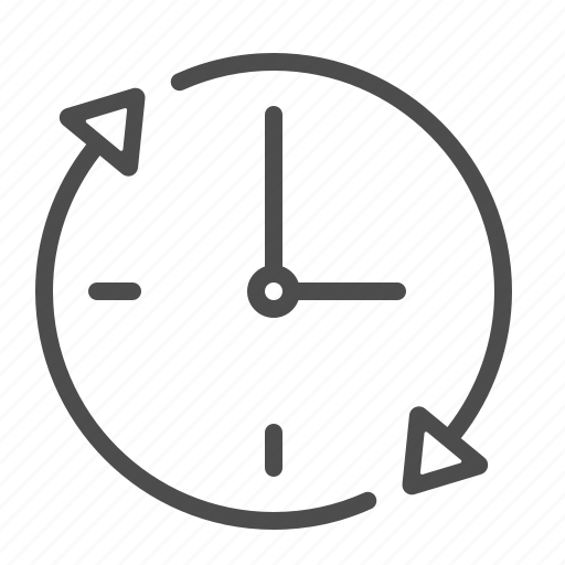 around the clock, arrows, clock, time icon