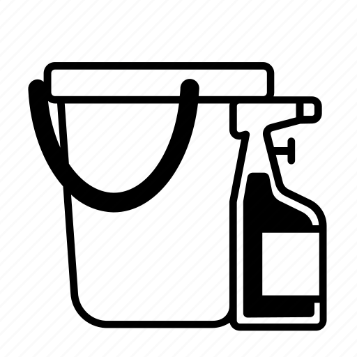 bucket, clean, cleaning, cleaning product icon