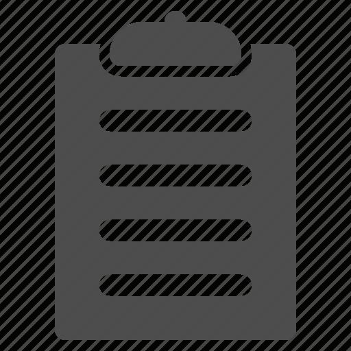 checklist, clipboard, note, text icon