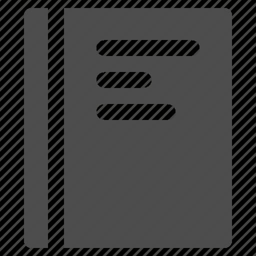 handbook, note, notebook, notepad icon