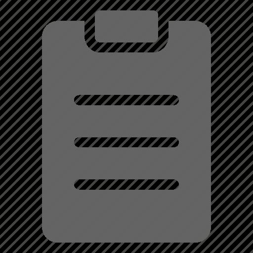 clipboard, list, note icon