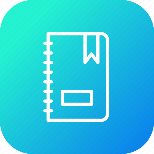 book, dairy, manage, office, remind, stuff, work icon