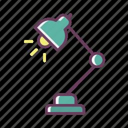 bulb, lamp, light, night, office, stuff, work icon