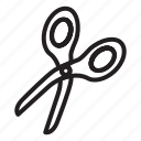 cut, scissor, scissor icon, stationary icon icon