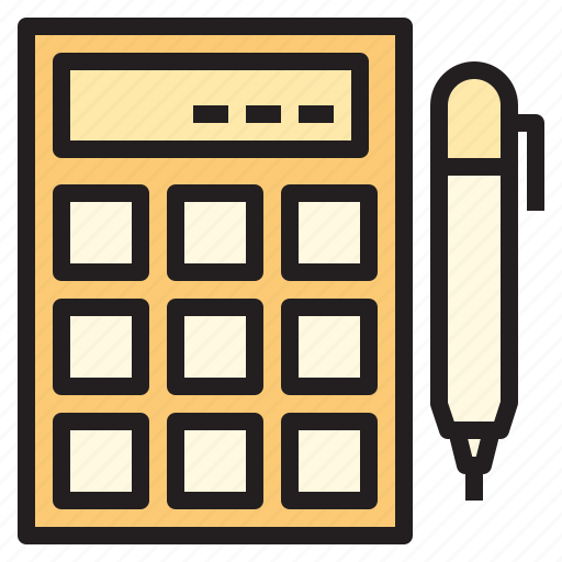 business, calculator, office, report, tool icon