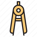 business, compasses, office, report, tool icon