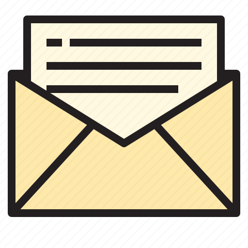 business, letter, office, report, tool icon