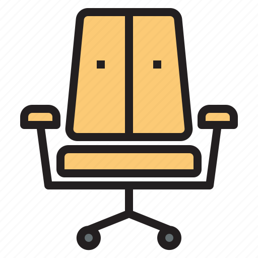 business, chair, office, report, tool icon