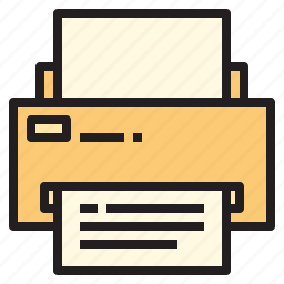 business, office, printer, report, tool icon